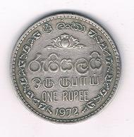 1 RUPEE 1972 SRI LANKA /4178/ - Sri Lanka