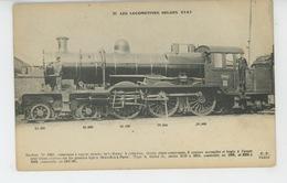 CHEMINS DE FER - LES LOCOMOTIVES BELGES ETAT - N°21 - Trains