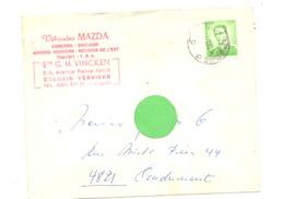 "Enveloppe à Entête : Garage "" MAZDA "" Ets G.H.VINCKEN à DOLHAIN( Verviers) En 1970 (van) - 1950 - ..."