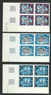 Wallis,1972 Série Pirogues Neufs ** Non Dentelés, Blocs De 4 Coins Datés Cote YT 280€ - Non Dentelés, épreuves & Variétés