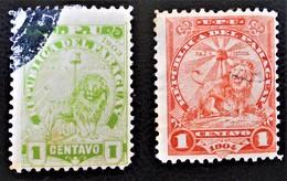 ARMOIRIES 1903/05 - OBLITERES - YT 81 + 90 - Paraguay