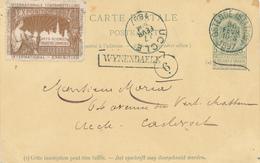 130/29 - Entier Postal Armoiries OSTENDE Station 1897 Vers UCCLE - Griffe De Gare WYNENDAELE - Ecrite Du Chateau - Poststempel