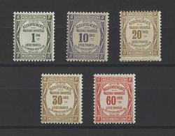 FRANCE.  YT  Timbres Taxe  N° 43/48  (manque N°47)  Neuf **  1908 - Taxes