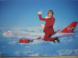 Avion / Airplane / VIRGIN ATLANTIC/ Boeing B 747 / Advertising Card - 1946-....: Era Moderna