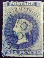 Australie Du Sud South Australia 1859 Filigrane étoile Watermark Star Yvert 8 O Used - 1855-1912 South Australia