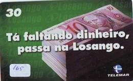 BRASIL * TELECARTE * BILLET De Banque * (165) Banknote * Japan Phonecard  GELDSCHEIN * Coin * BANKBILJET - Timbres & Monnaies