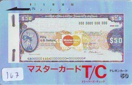 Télécarte Japon * BILLET De Banque  (167) Banknote  * Japan Phonecard * GELDSCHEIN * Coin * BANKBILJET - Timbres & Monnaies