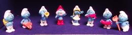 Kinder 2001 : Série Schtroumpfs Comportant 8 Figurines Individuelles. ( SUPERBE ! ) - Lots
