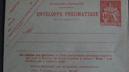 Entier 40c Chaplain Rouge Carmin Sur Enveloppe Pneumatique (1919) YT2773 Cote 38 € Sans Date Voir Scan - Altri