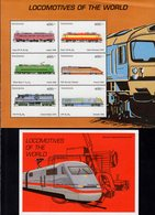 Tanzania - 1999 - Locomotives Of The World - Mint Stamp Sheetlet + Souvenir Sheet - Tanzania (1964-...)