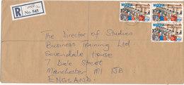 Nigeria Registered Cover Sent To England 5-10-1987 - Nigeria (1961-...)