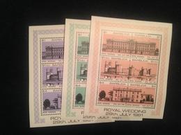 Barbuda Royal Wedding 3 Mini Sheetlets Mint - Antigua And Barbuda (1981-...)