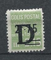 FRANCE - 1938 - Colis Postaux - YT N°143 - 2 F. 75 Sur 2 F. 15 Vert Surchargé D - Livraison Par Exprès - Neuf* TTB - Colis Postaux