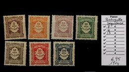PORTOGALLO SEGNATASSE SERIE DEL 1904 Y&T DAL N° 7 AL N° 13 NUOVI LINGUELLATI (*) (13/05) - Port Dû (Taxe)