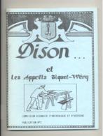 """Livre  Les """" Apprêts TIQUET WERY """" DISON, 1982 - Commission Disonaise D' Archéologie Et D' Histoire N° 2 - Textile (van) - Belgique"""