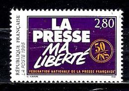FRANCE 2917** 2,80f Lilas Et Jaune Cinquantenaire De La Fédération Nationale De La Presse Française - Frankreich