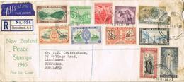 32779. Carta Aerea Certificada CHRISTCHURCH (New Zealand) 1946 To Scotland - 1907-1947 Dominion