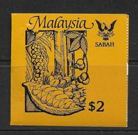 MALAYSIA-SABAH 1987 CARNET AGRICULTURE YVERT N° NEUF MNH** - Malaysia (1964-...)