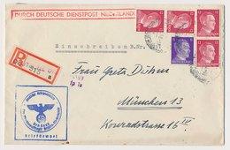 DDPN Den Haag - Duitsland 1942 - Aangetekend - Ohne Zuordnung