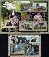 Tanzania - 2005 - 200th Anniversary Of First Steam Locomotives - Mint Stamp Sheetlet + Souvenir Sheet - Tanzania (1964-...)