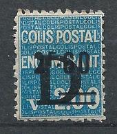 FRANCE - 1938 - Colis Postaux - YT N°146 - 2 F. 60 Sur 2 F. Bleu Surchargé D - Colis Encombrant - Neuf* TTB - Colis Postaux
