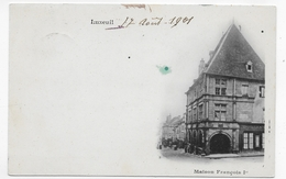 (RECTO / VERSO) LUXEUIL EN 1901 - MAISON FRANCOIS 1er - CPA PRECURSEUR VOYAGEE - Luxeuil Les Bains