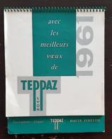 Teppaz Lyon - Calendrier 1961 Vues De France (electrophone, Disques, Haute Fidelité. BON ETAT - Big : 1961-70