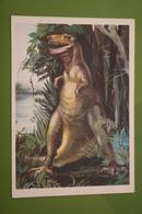 Tarbosaurus   - Dinosaur Serie - Old USSR Postcard 1983 - Non Classificati