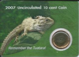 New Zealand - Elizabeth II - 2007 - 10 Cents - Tuatara - KM234 - Only 15,000 Minted - New Zealand