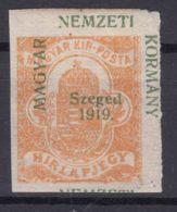 Hungary Szegedin Szeged 1919 Mi#1 Mint Hinged, Moved Overprint - Szeged