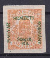 Hungary Szegedin Szeged 1919 Mi#1 Mint Hinged, Error Overprint - 919 Instead Of 1919 - Szeged