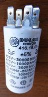 Condensateur 2 µF, DUCATI Série 4.16.15, 450 VAC, Connexion Rapide / Embrochable - Autres Collections