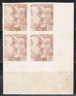 Bloque De 4 Borde De Hoja, Caudillo Pro Tuberculosos 1939, Edifil Num 888 * - 1931-50 Nuevos & Fijasellos