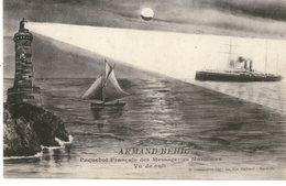 Messageries Maritimes Paquebot ARMAND BEHIC VUE DE NUIT - Steamers