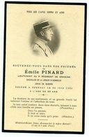 Avis De Décès - Emile Pinard Lieut. Au 9è Rég.de Dragons, Chevalier De La Légion D'honneur, Croix De Guerre - Obituary Notices