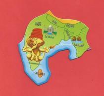 """Magnet  Série:Brossard / Pays Et Animaux Du Monde """" Le Lion,Inde """" - Tourism"""