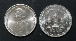 Thailand Coin 10 Baht 1980 80th Birthday Of King Mother Y141 UNC - Thailand