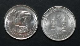 Thailand Coin 10 Baht 1981 King Rama 4 Reign - Twice Y146 UNC - Thailand