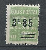 FRANCE - 1938 - Colis Postaux - YT N°153 - 3 F. 85 Sur 2 F. 35 Vert - Livraison Par Exprès - Neuf* TTB - Mint/Hinged