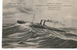 Messageries Maritimes Paquebot ARMAND BEHIC PAR GROSSE MER - Steamers