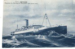 Messageries Maritimes Paquebot AMBOISE  PAR GROSSE MER  EL  EGYPTE - Steamers