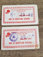 Coupon For Meal Money Bosnia And Hercegovina - Bosnia Erzegovina