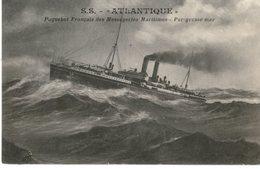 Messageries Maritimes Paquebot ATLANTIQUE  PAR GROSSE MER - Steamers