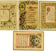 Lot De 4 Images Pieuses - Enluminures De 1888-1894-1889 - Santini