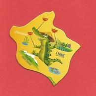 """Magnet  Série:Brossard / Pays Et Animaux Du Monde """" Le Crocodile La Chine """" - Tourisme"""