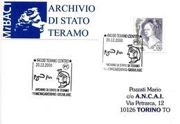 ITALIA - 2000 TERAMO Domenicarchivio Giubilare - Firma E Profilo Di ... - Francobolli
