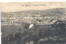 162. CANTAL . PANORAMA D'AURILLAC. JOLIE CARTE AFFR AU VERSO . 2 VERSO - Aurillac