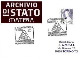 ITALIA - 2000 MATERA Domenicarchivio Giubilare - Lubrifica La Mente, Ingranaggi E Ampolla Per L'olio - Stamps