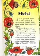 Prenom MICHEL, Coquelicots - Firstnames