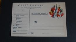 Carte Postale 1914-1918 Franchise Postale Pour Corps D'armée 7 Drapeaux Neuve Sans Date Voir Scan Rare! - Other